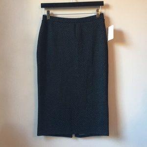 Dark and textured skirt.